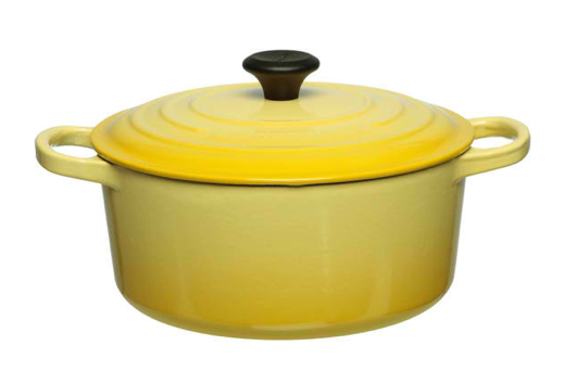 Le Creuset's Dutch Oven. This is cast iron with enamel. A favorite around here.
